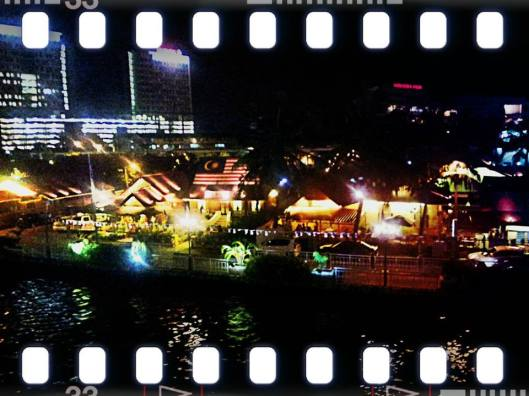 Morten Village, Malacca.. wt colorful light at nite..