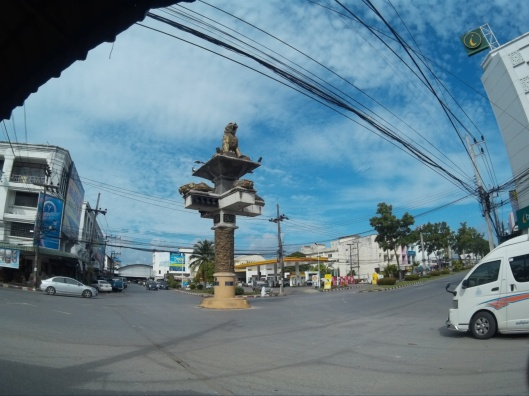 unique traffic light at Krabi town