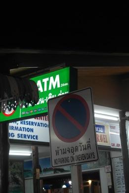 no parking on uneven days, Ban Saladan town, Koh Lanta..