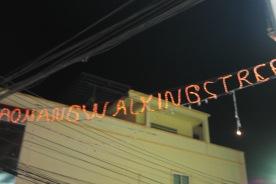 Aonang walking street (night market), Aonang, Krabi..