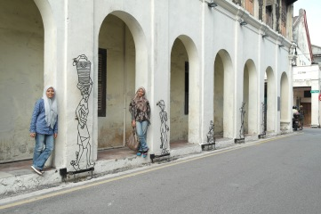 street art, Penang... Narrowest five foot way..