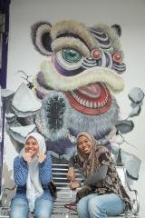 ~Street art, Penang..tarian singa..