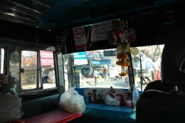 ~bus from Cha-Am town to Santorini Park..