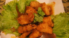 ~(ayam goreng cili) our dinner at Usman restaurant, sukhumvit, bangkok..