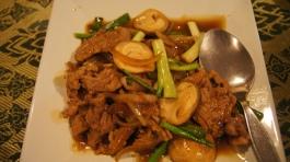 ~(daging masak sos tiram/soy sauce) our dinner at Usman restaurant, sukhumvit, bangkok..