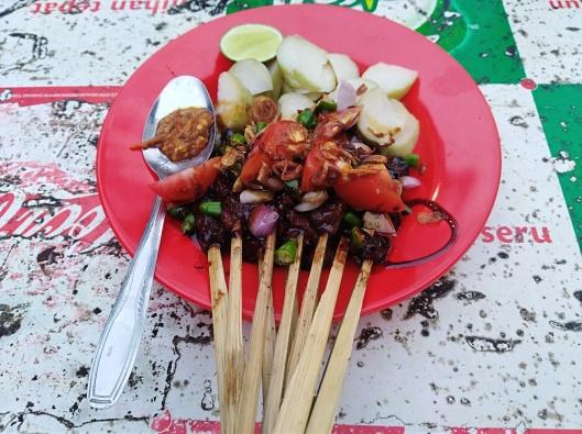 sate kambing, Street food (beside ibis budget hotel Jakarta Menteng)