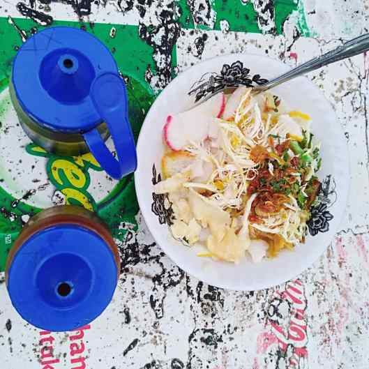 bubur ayam, Street food (beside ibis budget hotel Jakarta Menteng)