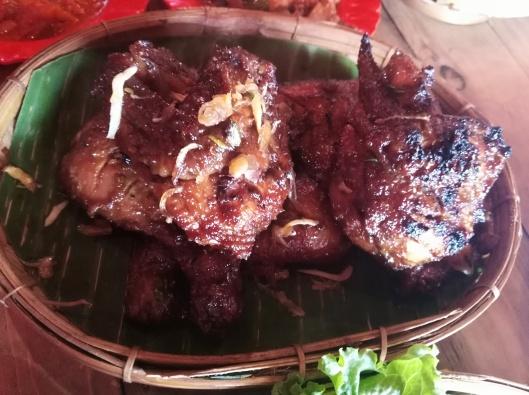 Ayam bakar set Nasi Liwet, Rumah Nenek resto & cafe
