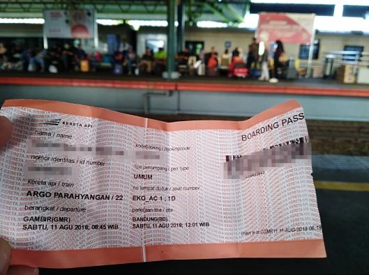 train tiket Jakarta - Bandung