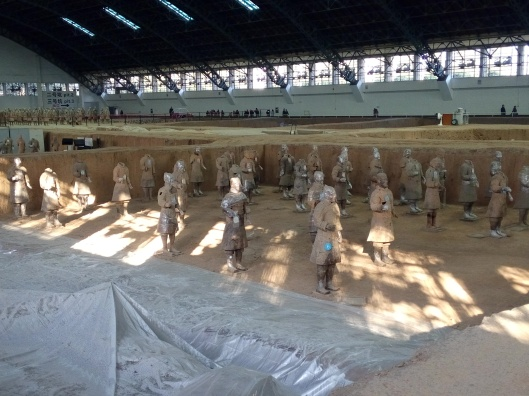 (pit 1) at terracotta warrior and horses museum, xian, china