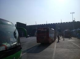 bus parking, xian
