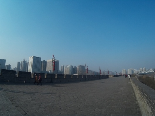 at Xian city wall