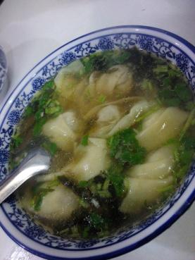 dumpling soup at muslim quarter xian, china