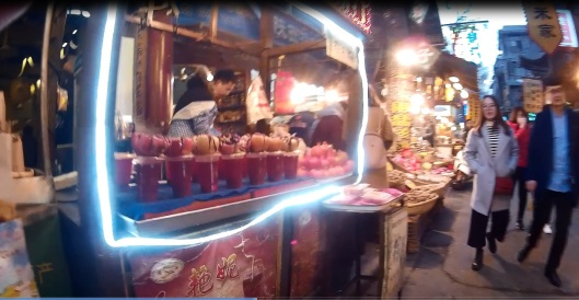 at muslim street xian, china