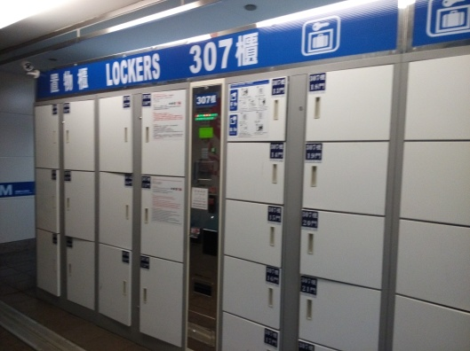 Lockers 307, at Taipei Main station