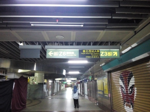 at Taipei main station, exit Z3 to taipei west bus station terminal A