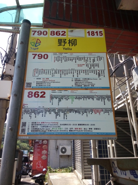 choice of buses from Jingshan bus stop (Yehliu geopark) to keelung bus stand...