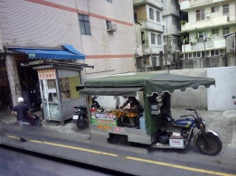 view on the way Keelung to Jiufen old street by bus