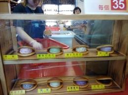 street food at Jiufen old street, taiwan