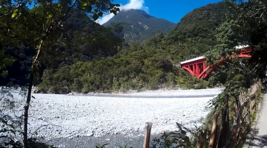 view of shakadang bridge, Taroko gorge, Hualien, Taiwan